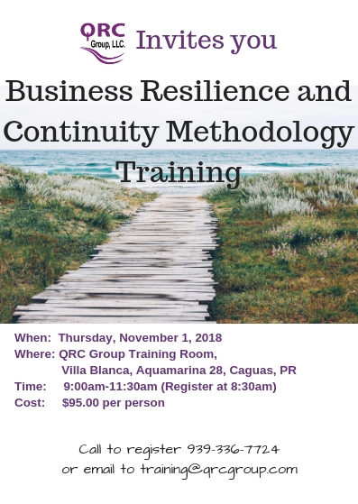 Business Resilience and Continuity Methodology